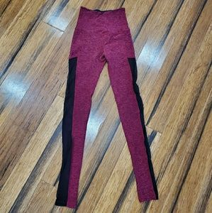 Beyond yoga high waisted leggings with mesh detail